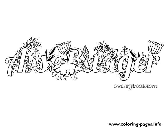 Marijuana Word Adult Coloring Pages Printable