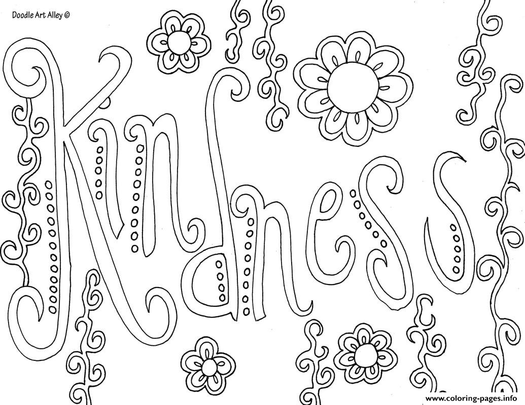 - Word Kindness Coloring Pages Printable