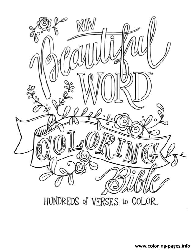 Free Beautiful Word Quotes coloring pages