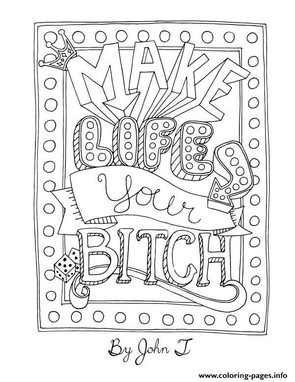 Word Make Your Life Your Bt coloring pages