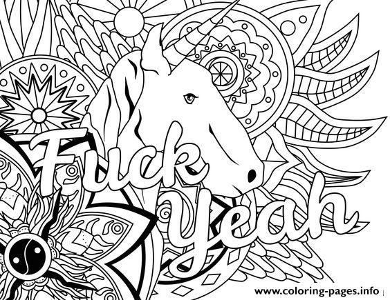 fuck yeah word doodle coloring pages - Doodle Coloring Pages