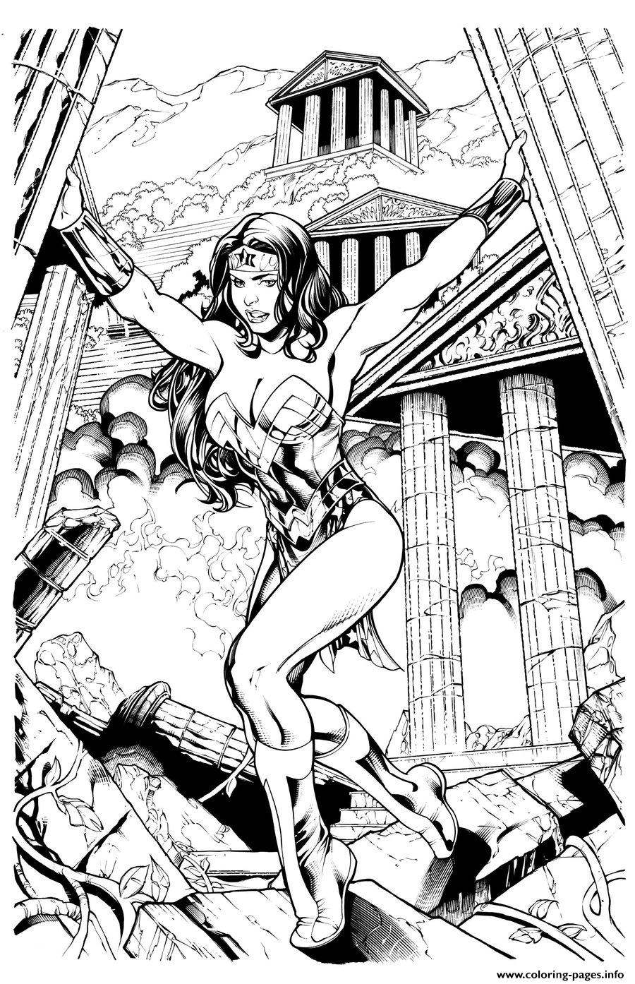 kevin sharpe wonder woman inks by frisbeegod dc comics coloring pages