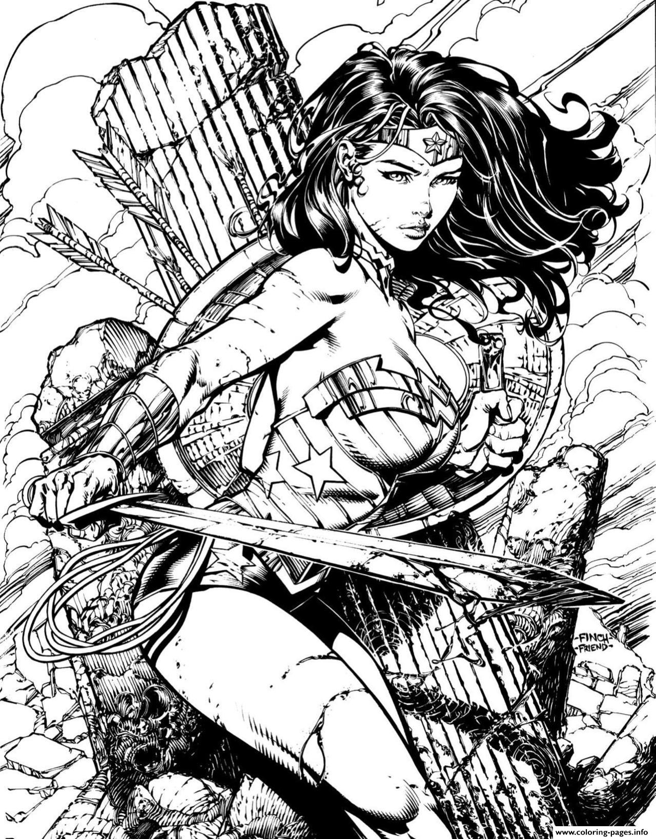Wonder Woman For Adult Book coloring pages