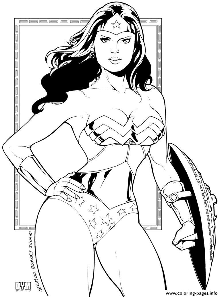 Wonder Woman Ink By Dymartgd For Adult coloring pages