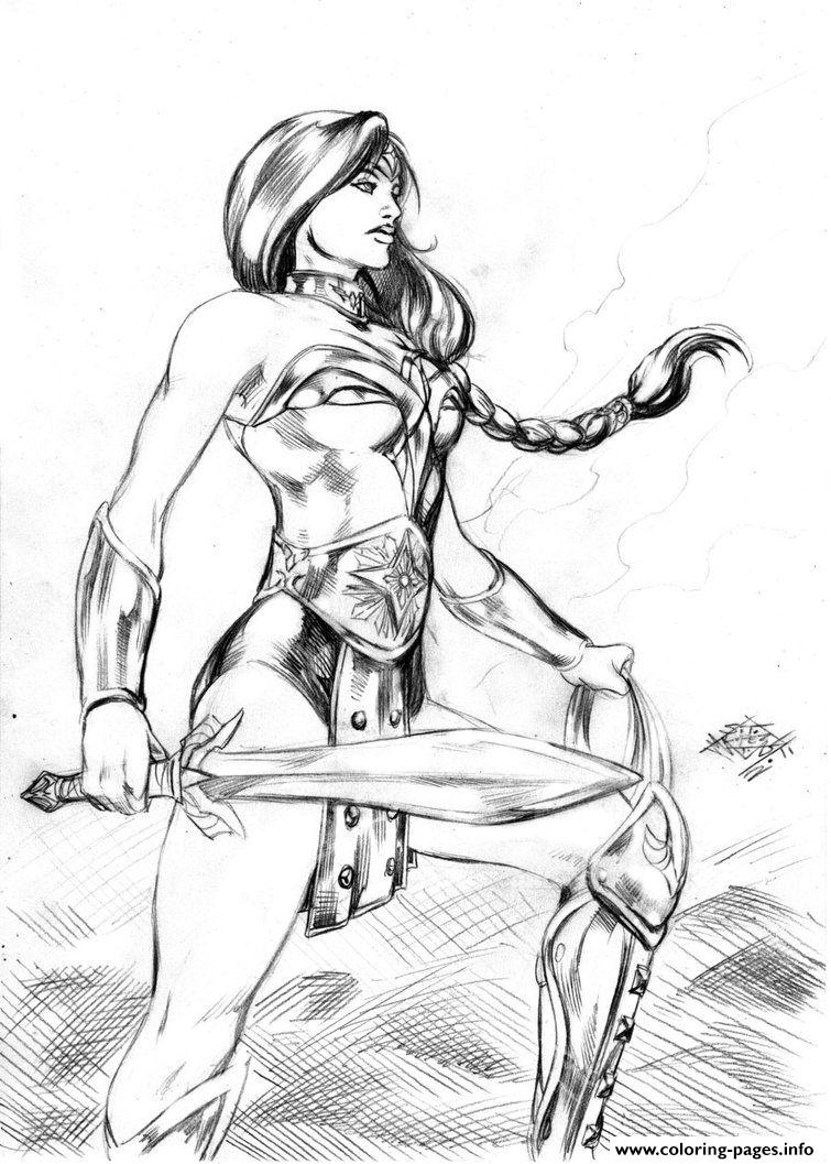 Coloring pages wonder woman - Coloring Pages Wonder Woman 31