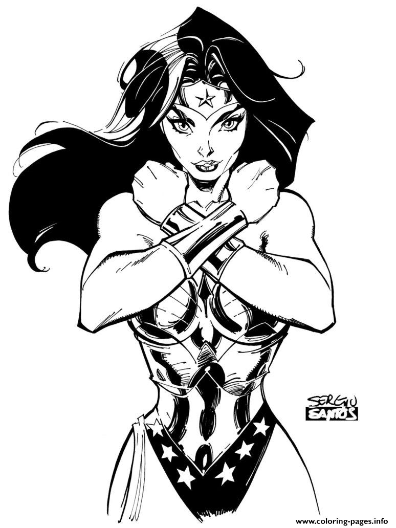 wonder woman by sergioxantos coloring pages printable