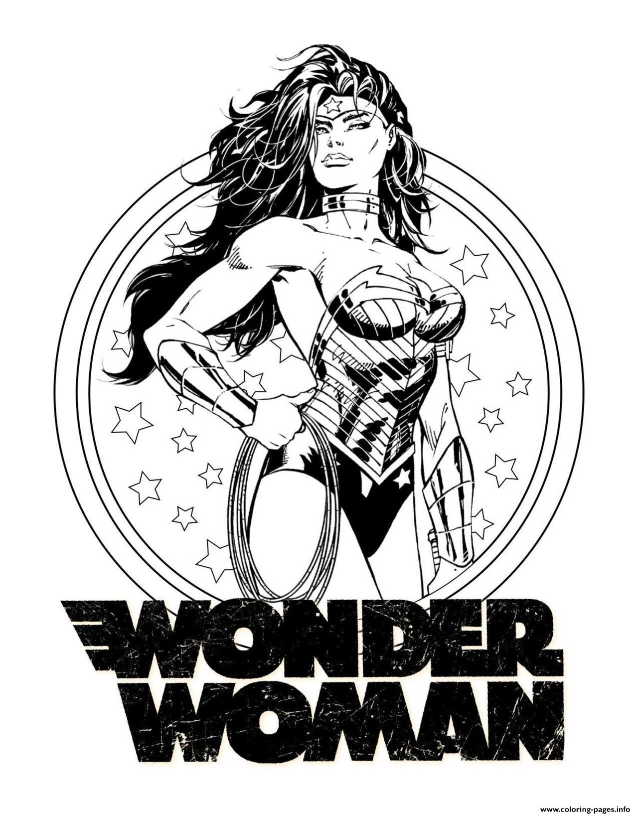 Wonder Woman For Adult Dc Comics Coloring Pages Printable