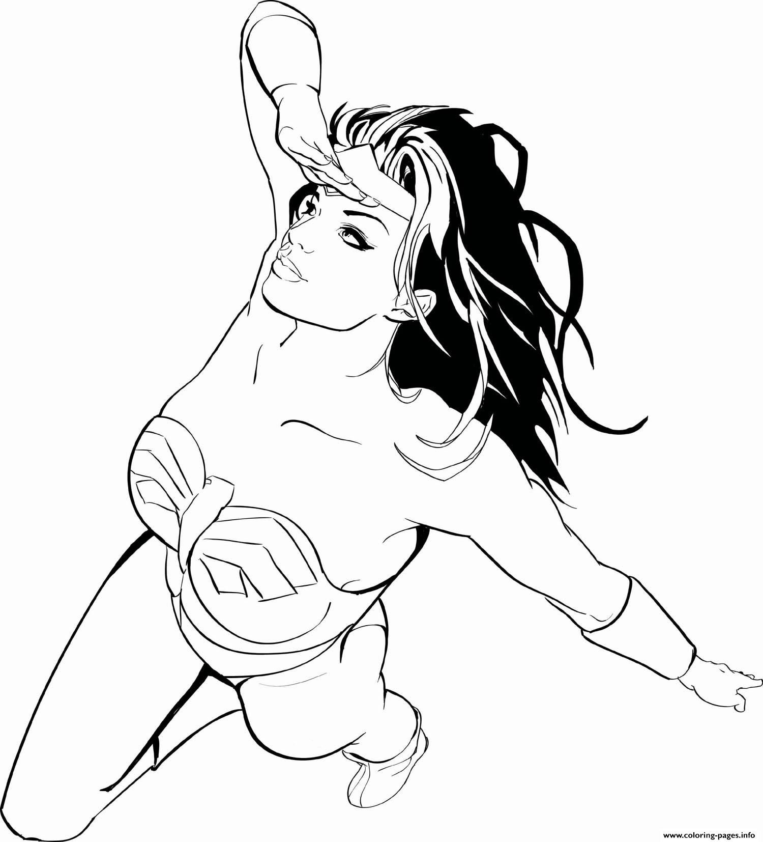 wonder woman is looking for superman adult coloring pages