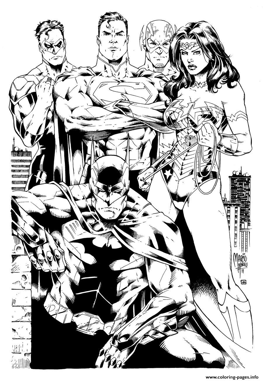 Printable coloring pages justice league - Printable Coloring Pages Justice League 25