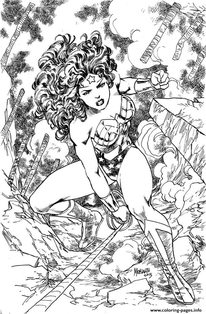 Coloring pages wonder woman - Coloring Pages Wonder Woman 39