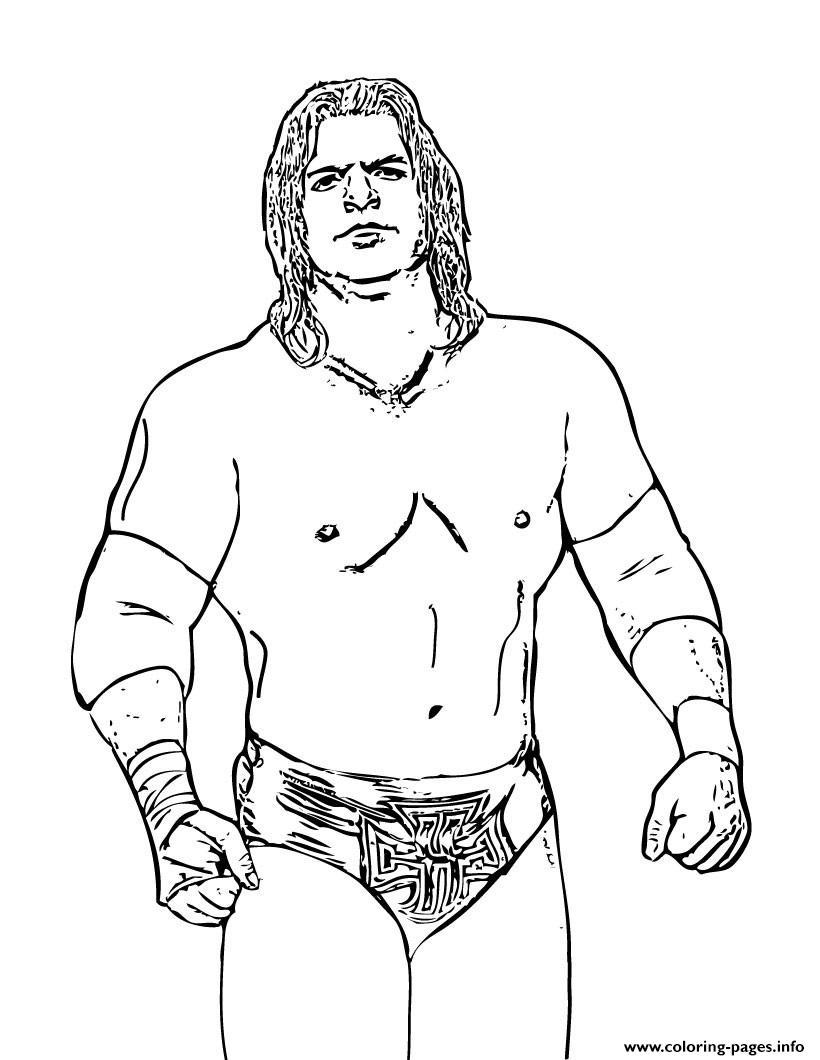 Wrestler Triple H Batista WWE Coloring Pages Printable
