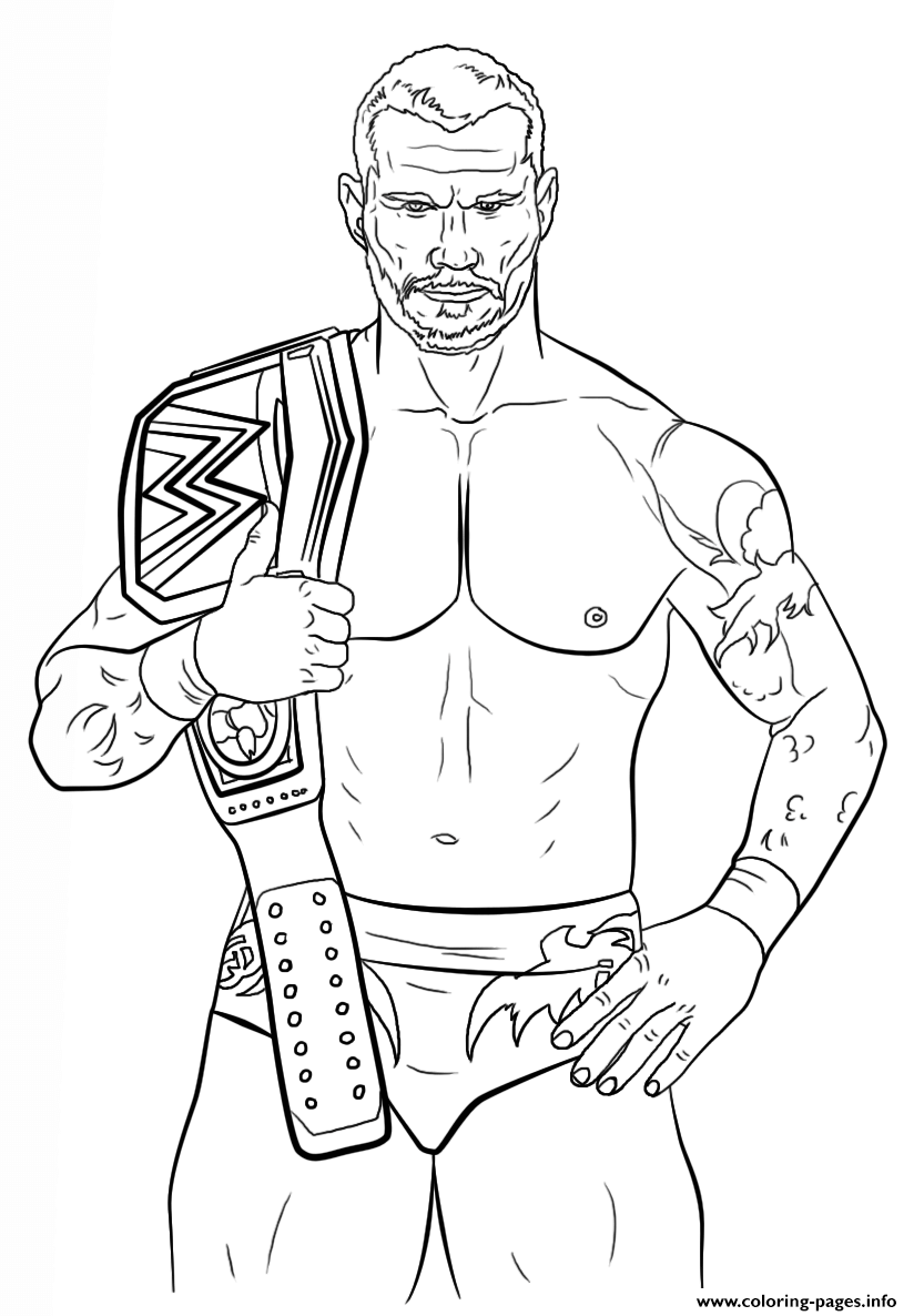 randy orton coloring page coloring pages printable