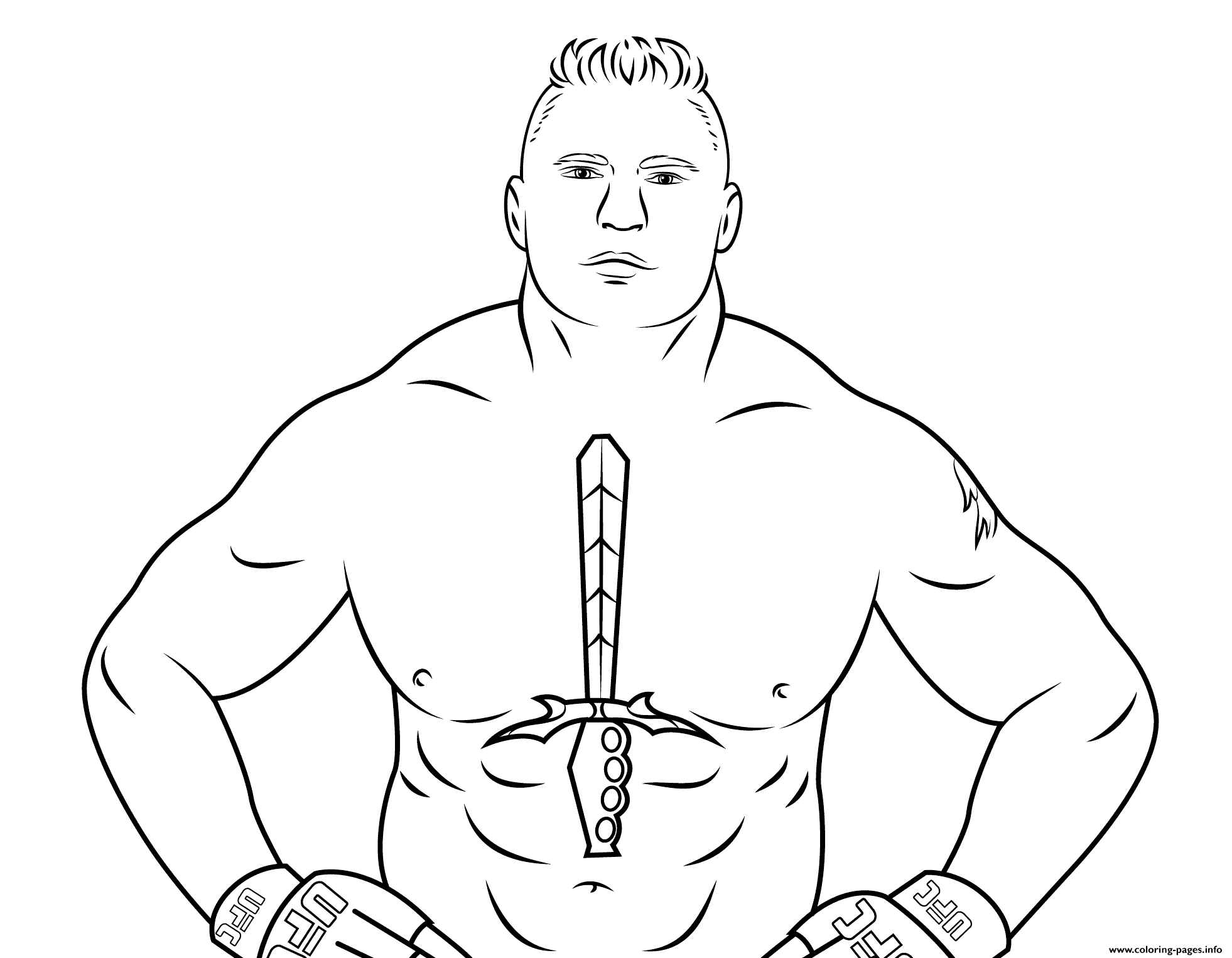 wwe brock lesnar coloring page Coloring pages Printable