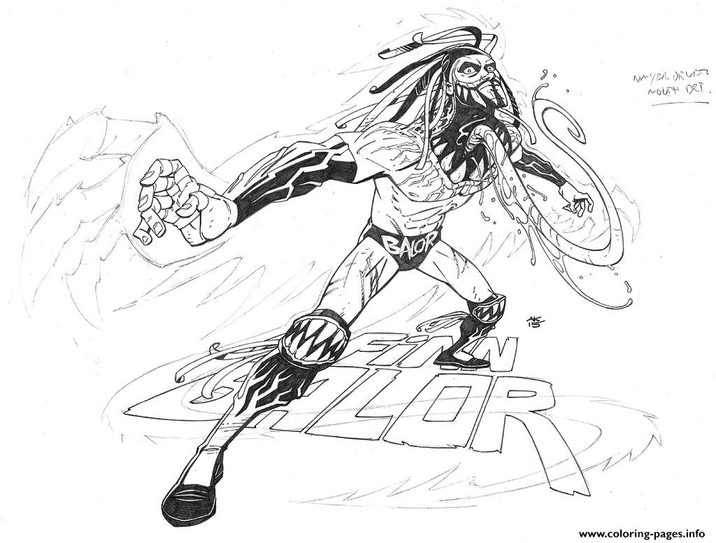 Wwe Wrestling Finn Balor 2 Coloring Pages Printable