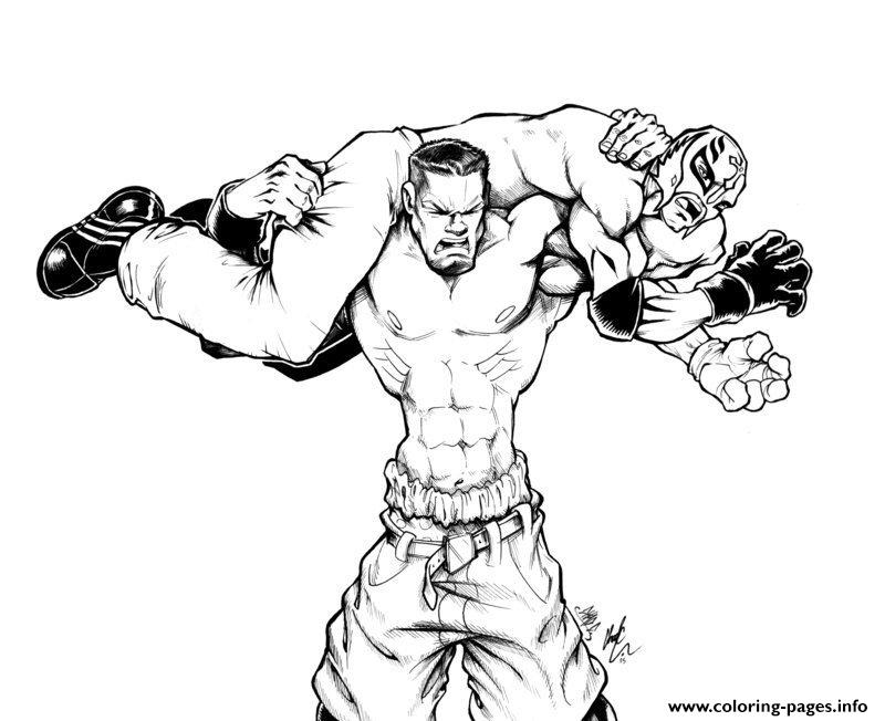 Wwe cartoon kids coloring pages