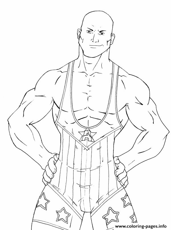 Wrestling Star WWE Coloring pages Printable