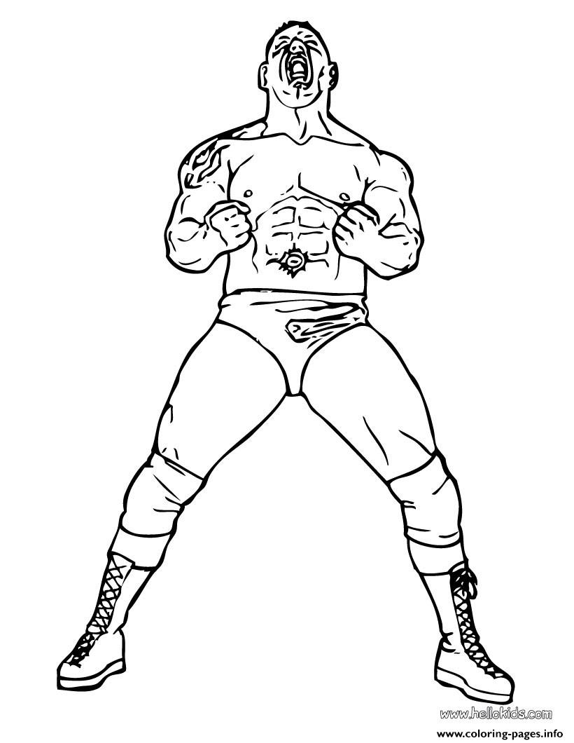 Batista Wrestler Coloring Pages Printable