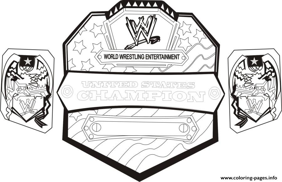 Wwe Championship Belt World Wrestling Coloring Pages Printable