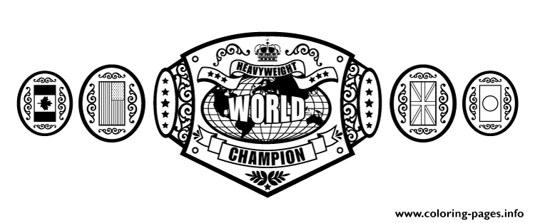 wwe championship belt coloring pages - Wwe Coloring Books