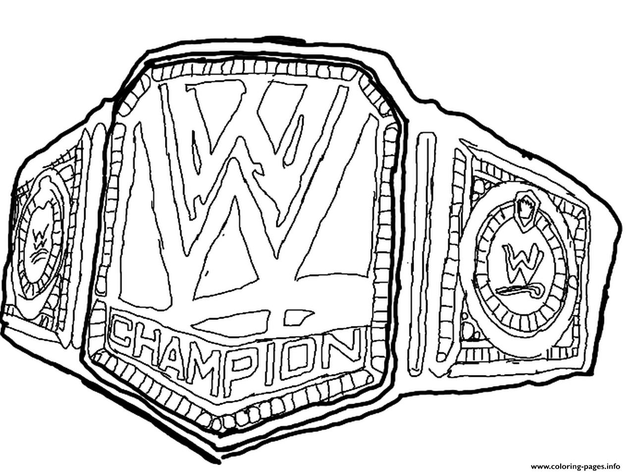 wwe belt coloring pages - Wwe Coloring Books