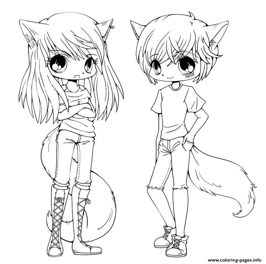 cute anime twins coloring pages printable