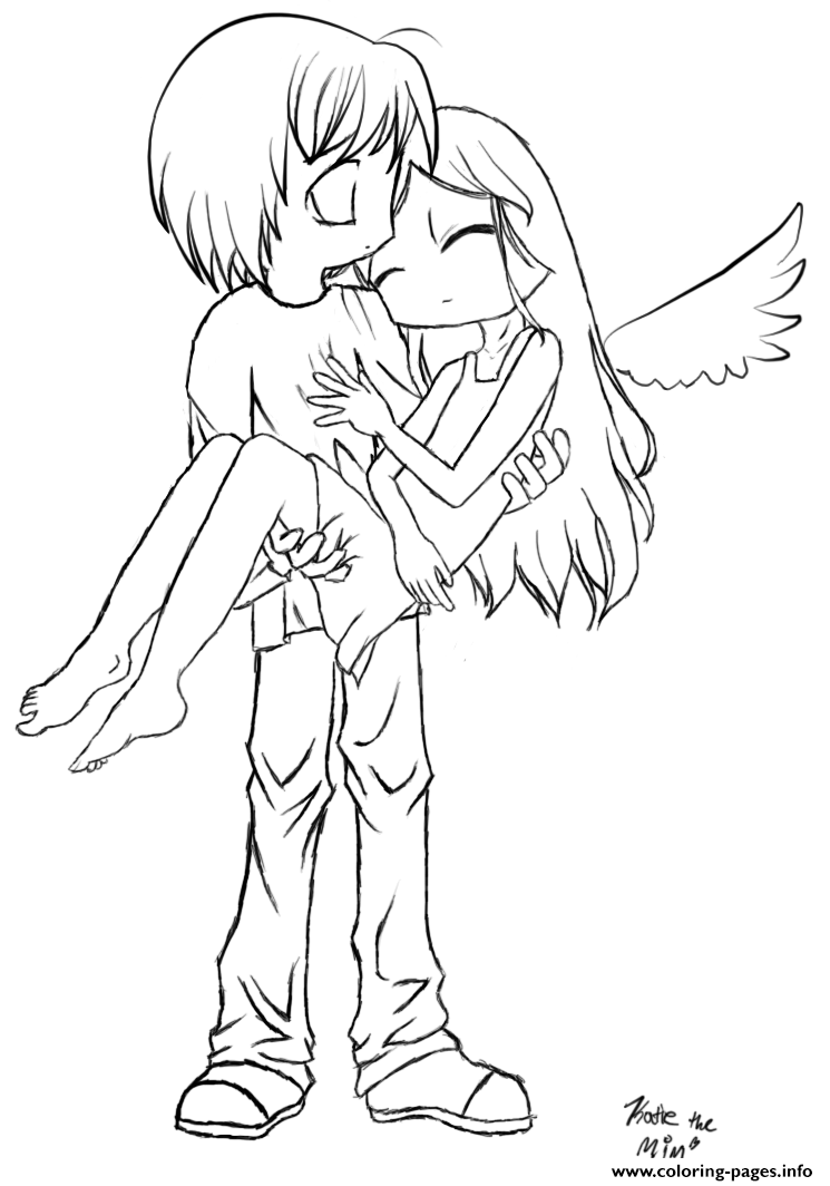 Fallen Angels Anime Coloring Pages Printable