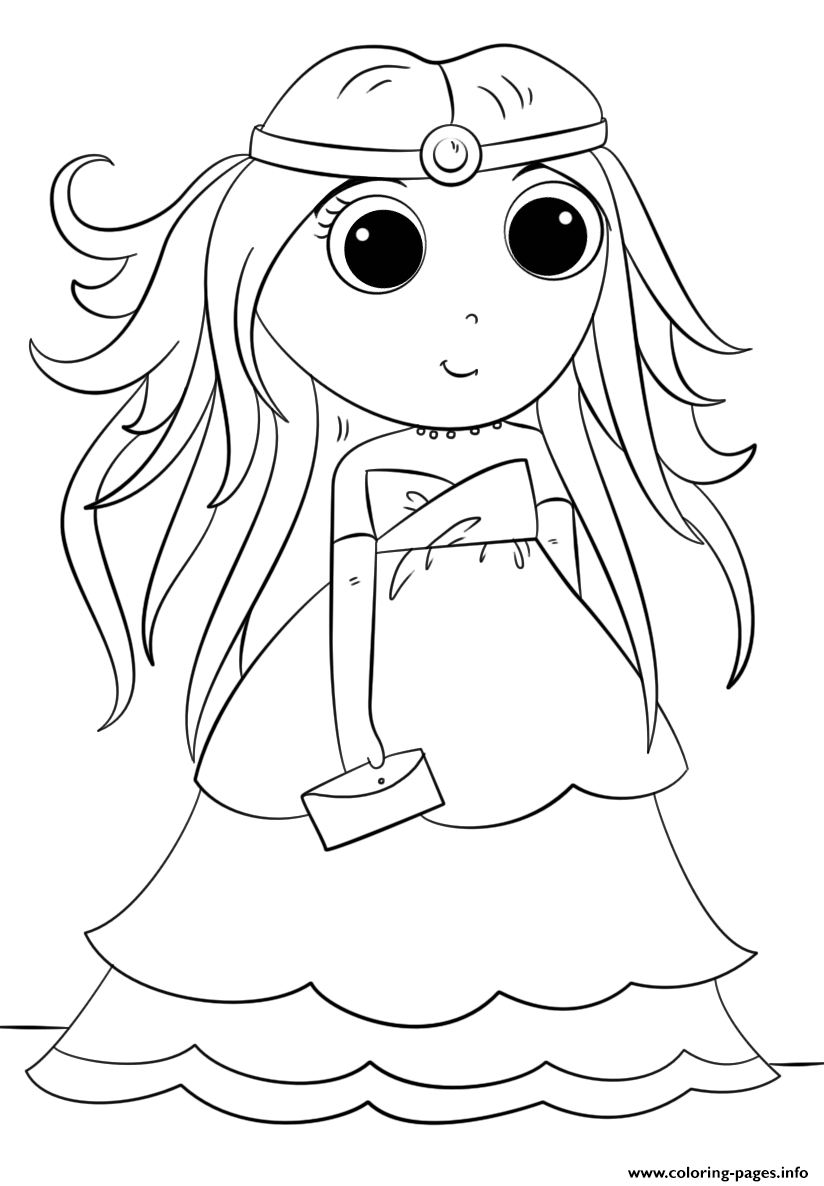 anime princess kawaii coloring pages