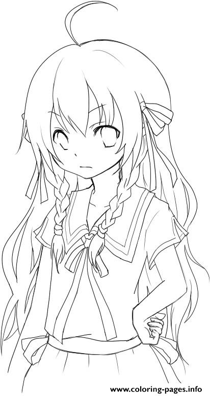 It's just an image of Anime Girl Coloring Pages Printable with boy