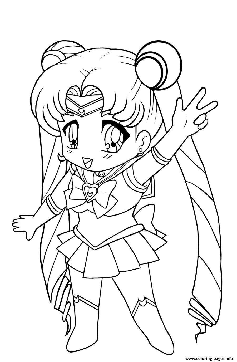 Kids Anime Girl S To Print De5bs Coloring Pages Printable