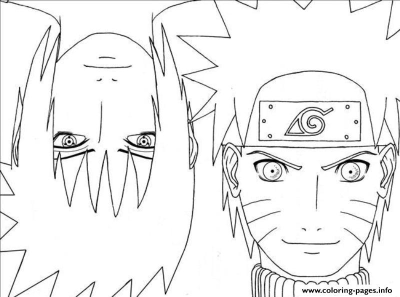 Anime Naruto With Sasuke29d3 Coloring Pages