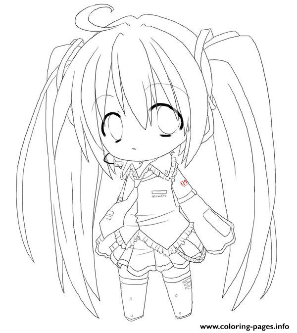 Chibi Anime Girl S To Print 6204 Coloring Pages Printable