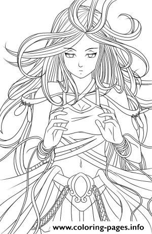 anime angel 3 coloring pages