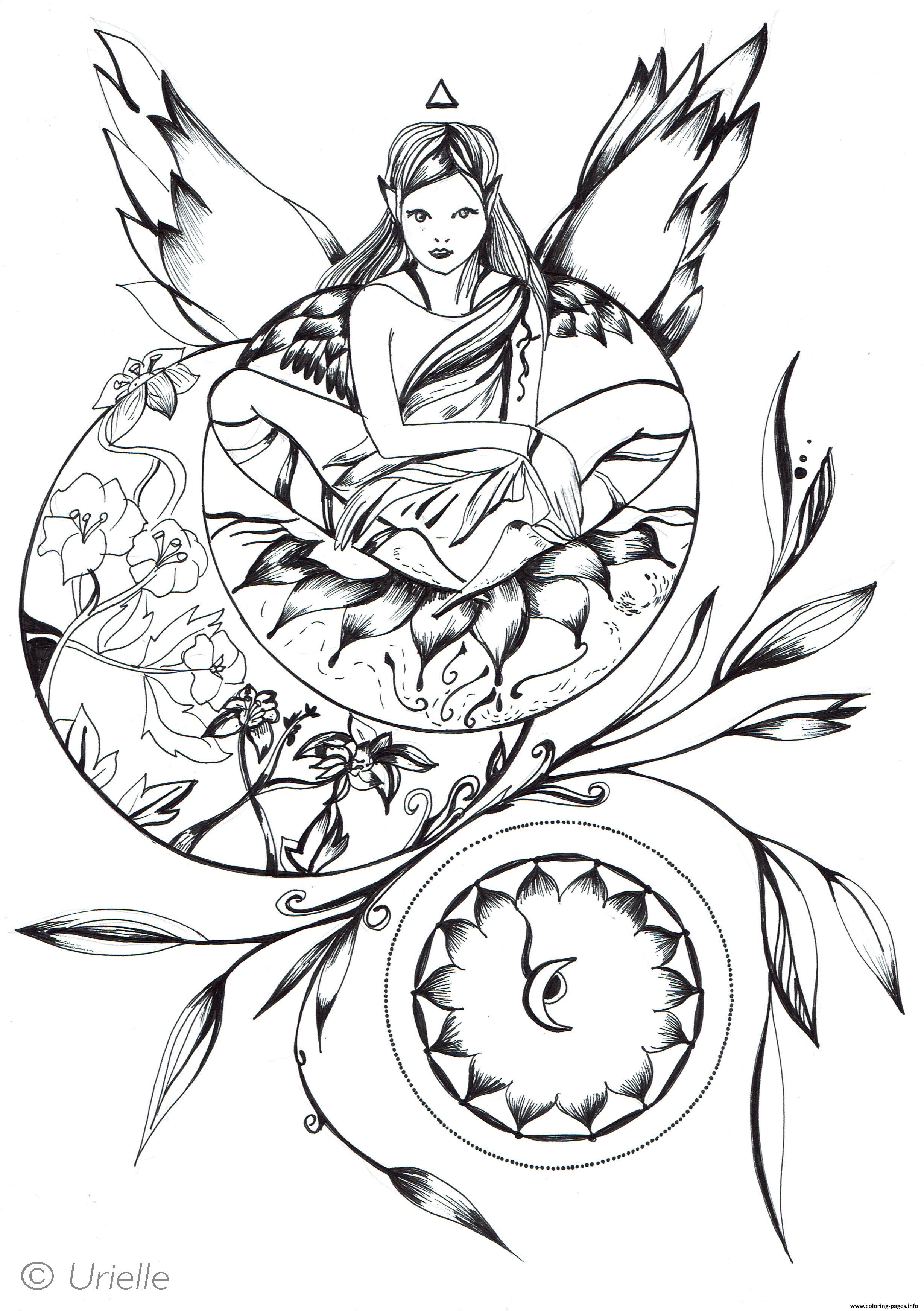 Adult Princess By Urielle coloring pages