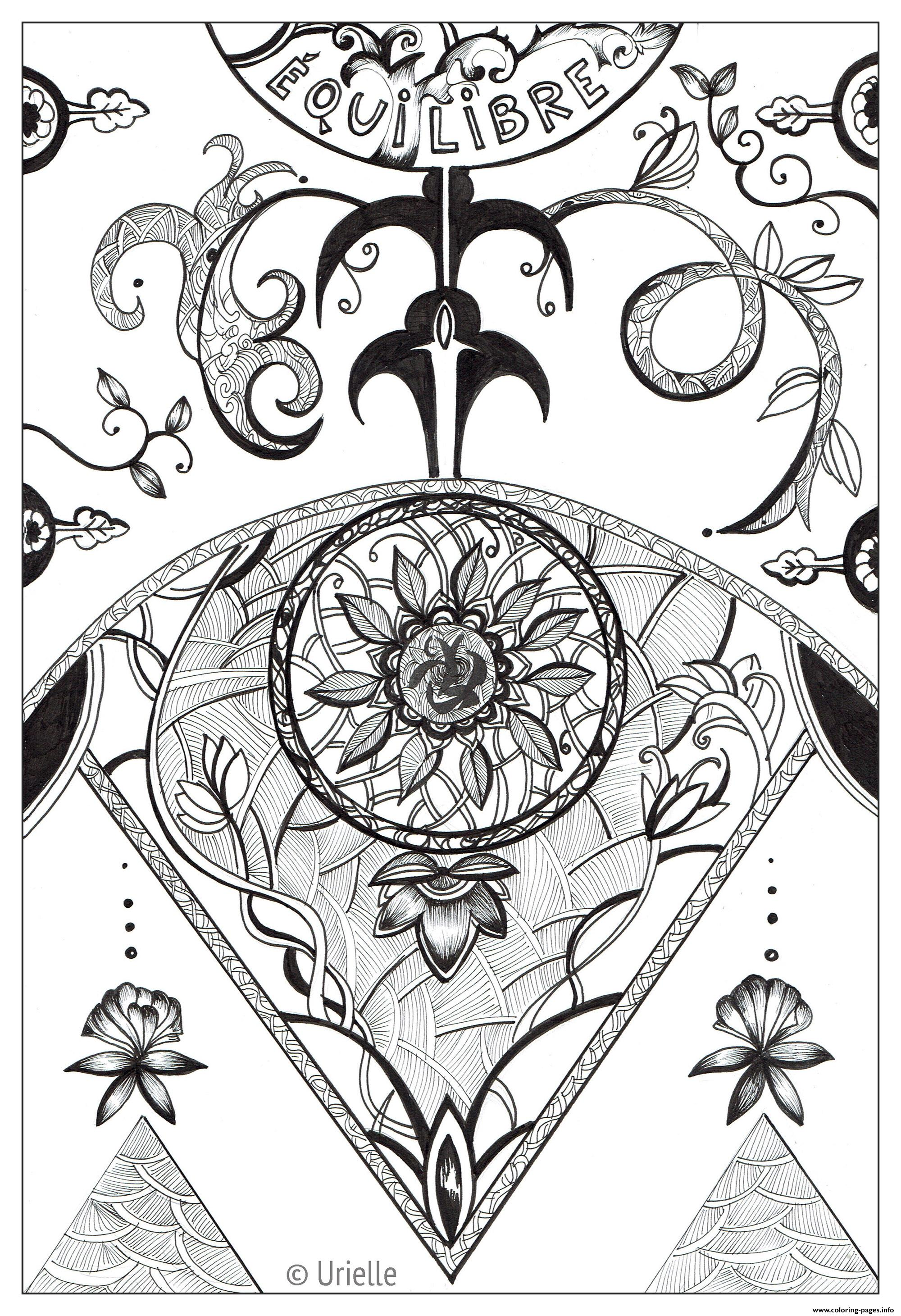 Adult Urielle Equifree Liberty coloring pages