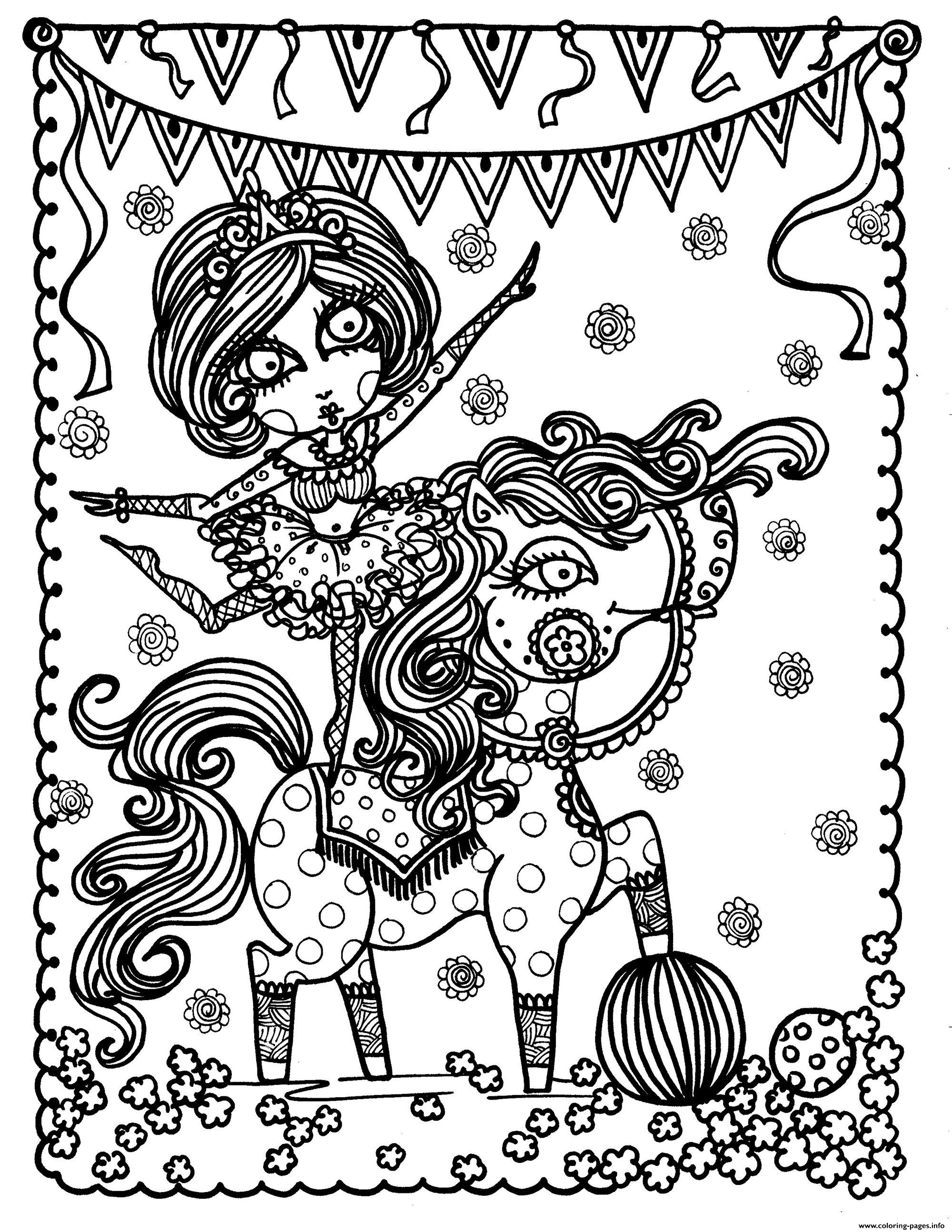 Adult Young Horse By Deborah Muller coloring pages