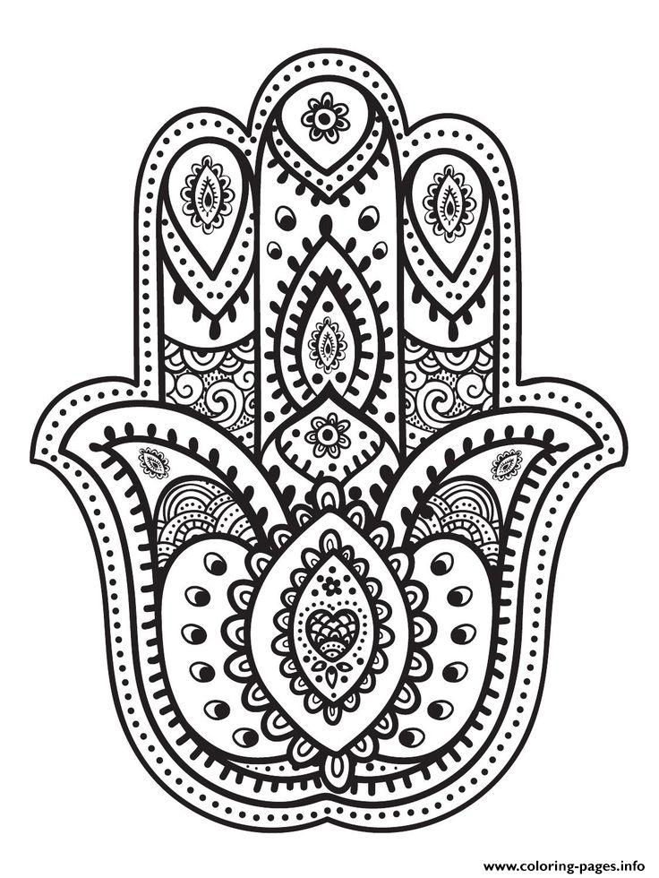 Mandala Hand Fatma Coloring Pages Printable