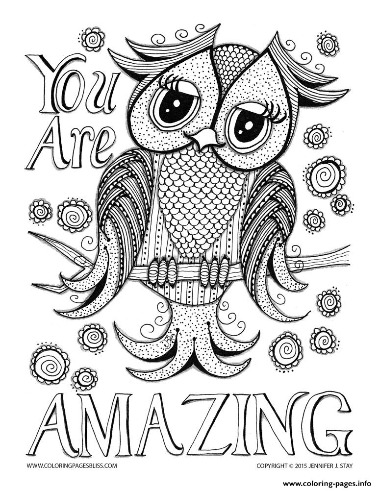 You Are Amazing Adult Anti Stress Jennifer 4 coloring pages