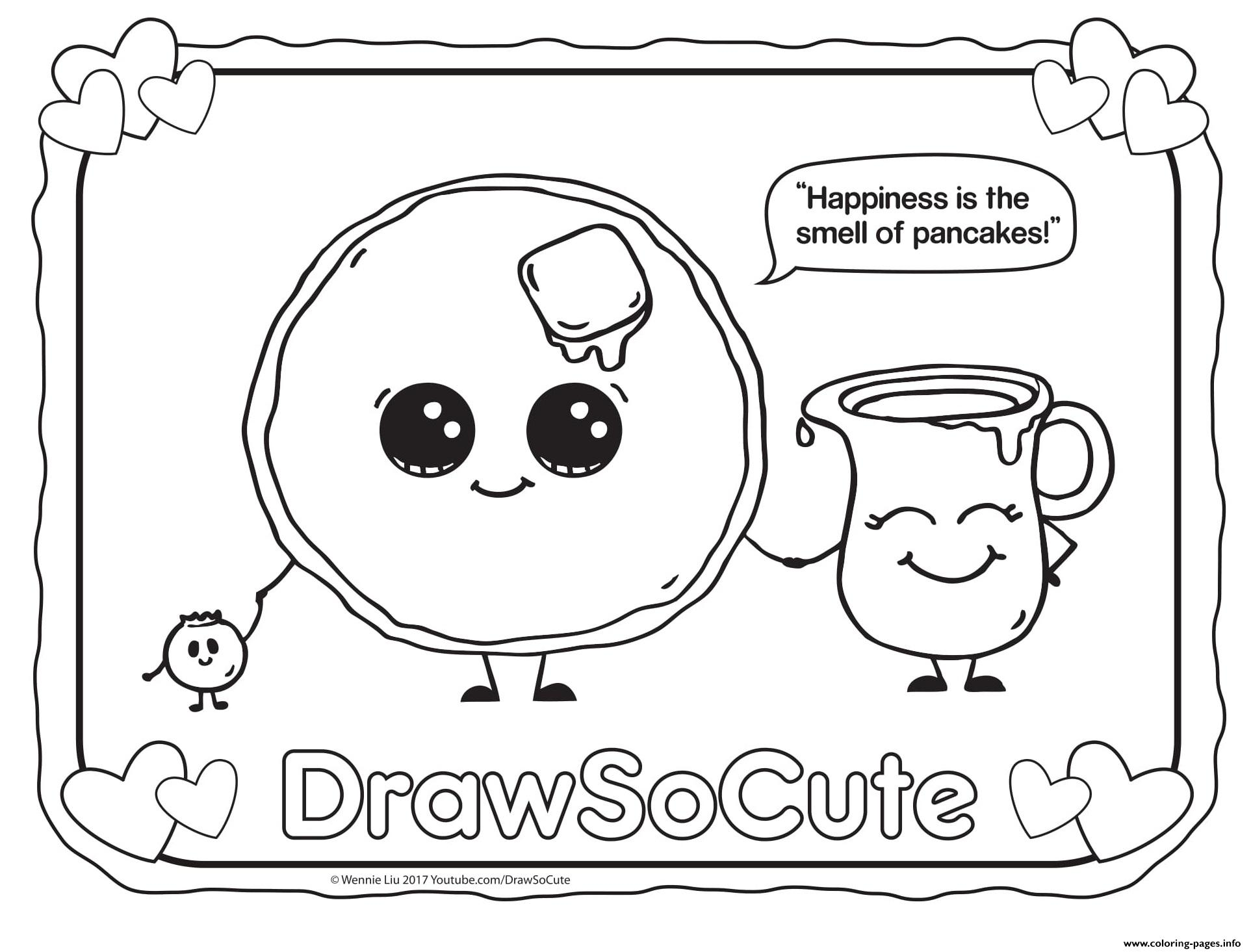 Pancake Draw So Cute coloring pages