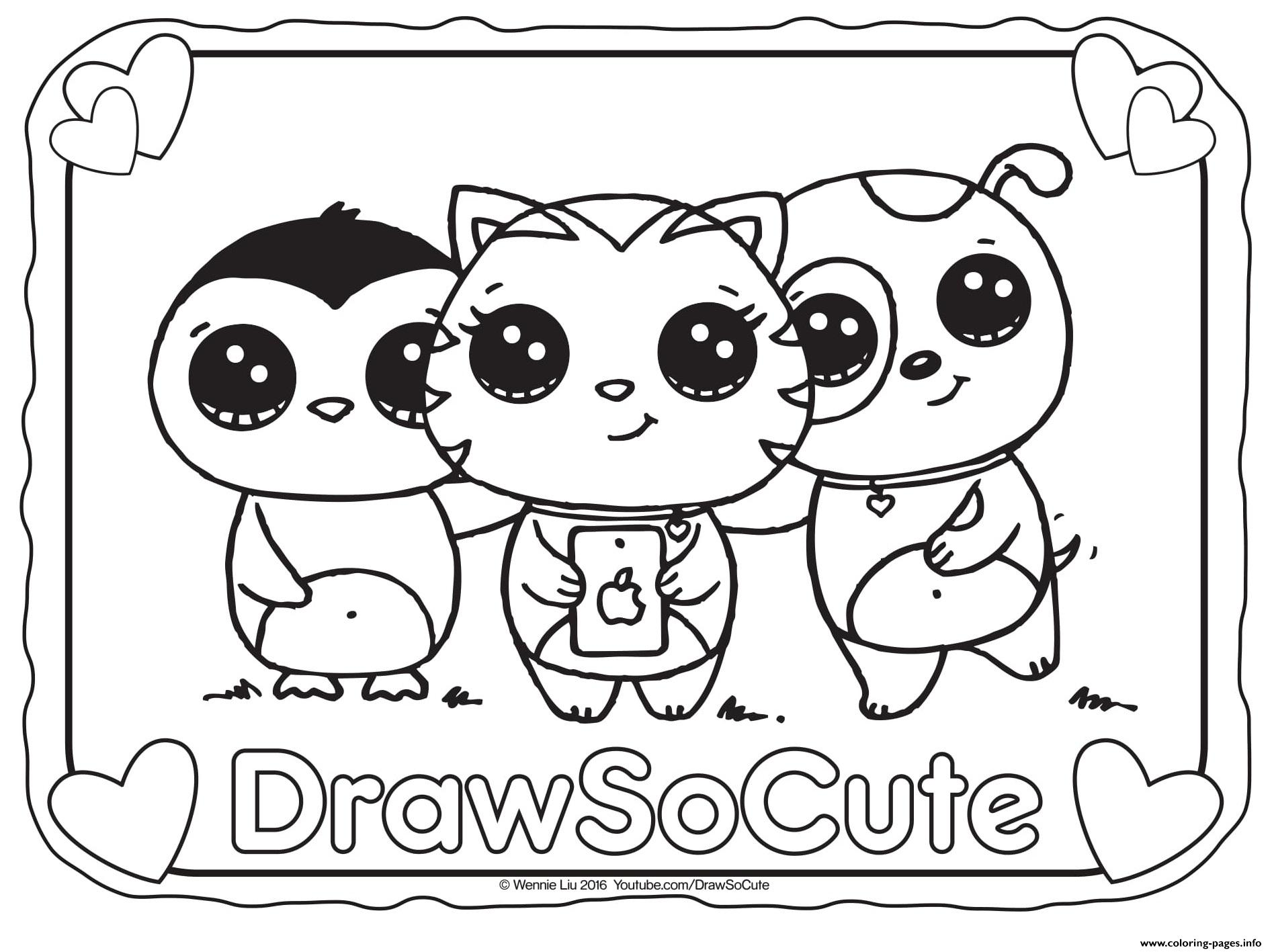 Selfie Draw So Cute coloring pages