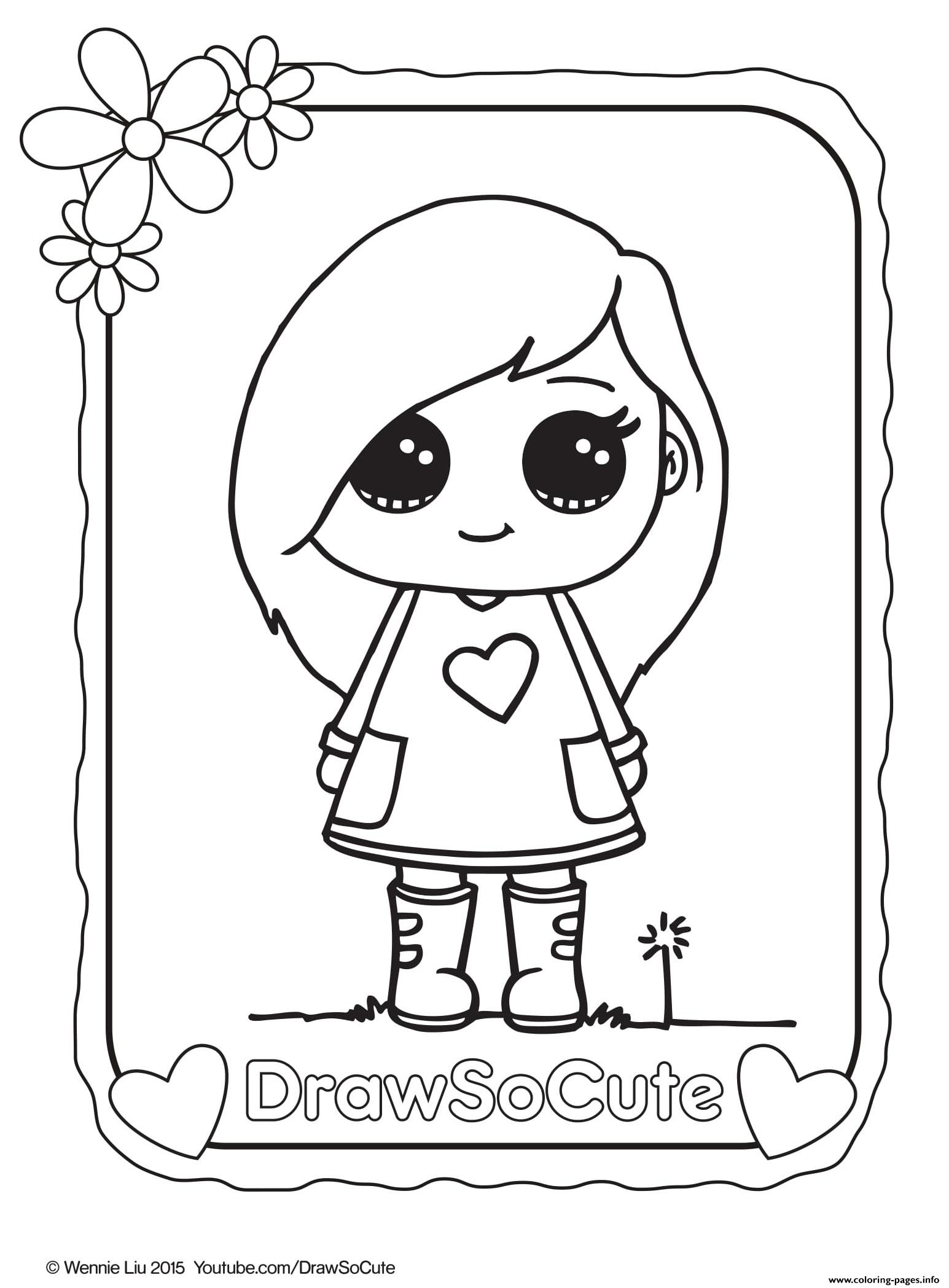 Sophie draw so cute coloring pages printable for Cute coloring book pages