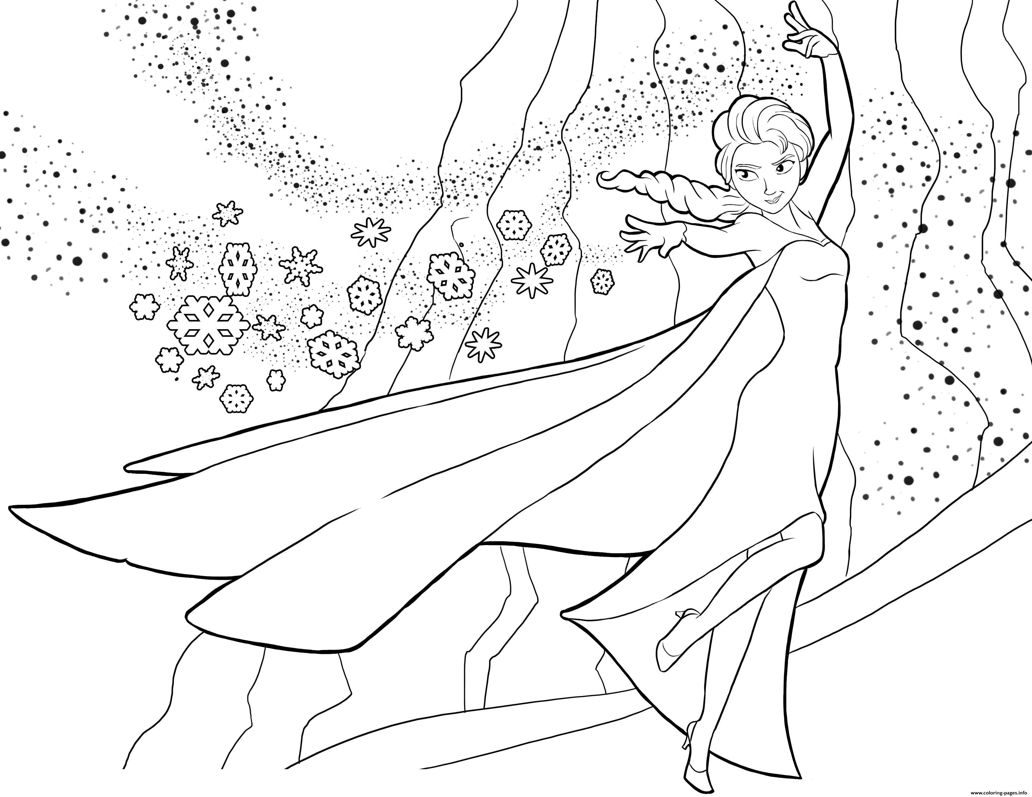Elsa Frozen Disney 3 coloring pages