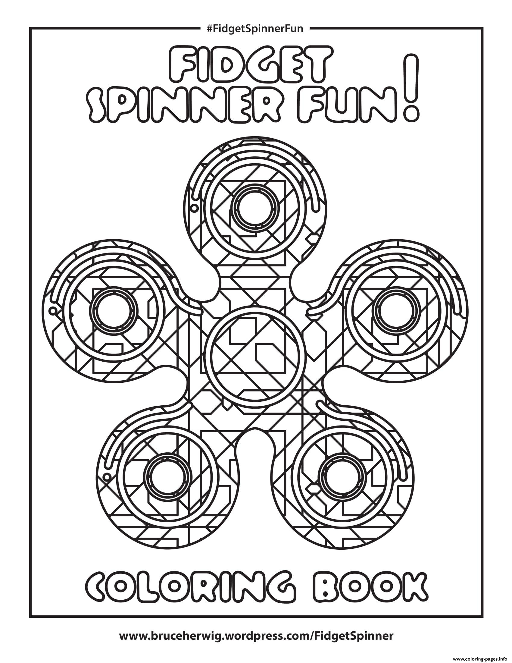 Fidget Spinner Fun Round Mandala Zen coloring pages