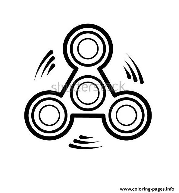 picture about Fidget Spinner Printable known as Great Spinner Toy Fidget Spinner Icon Coloring Web pages Printable