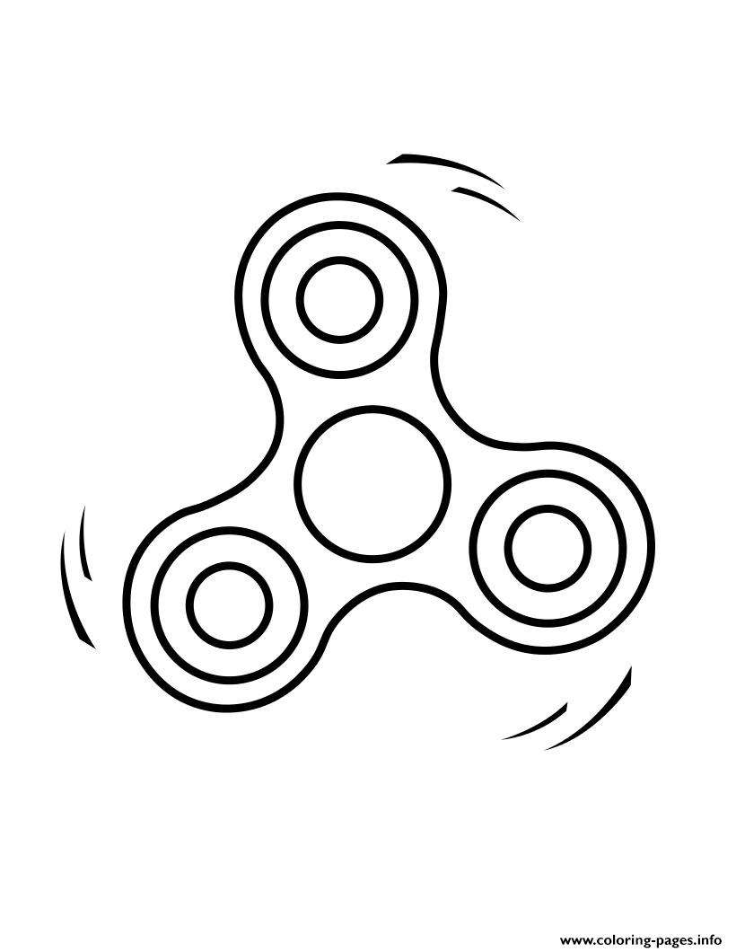 fidget spinner 2 kid coloring pages printable