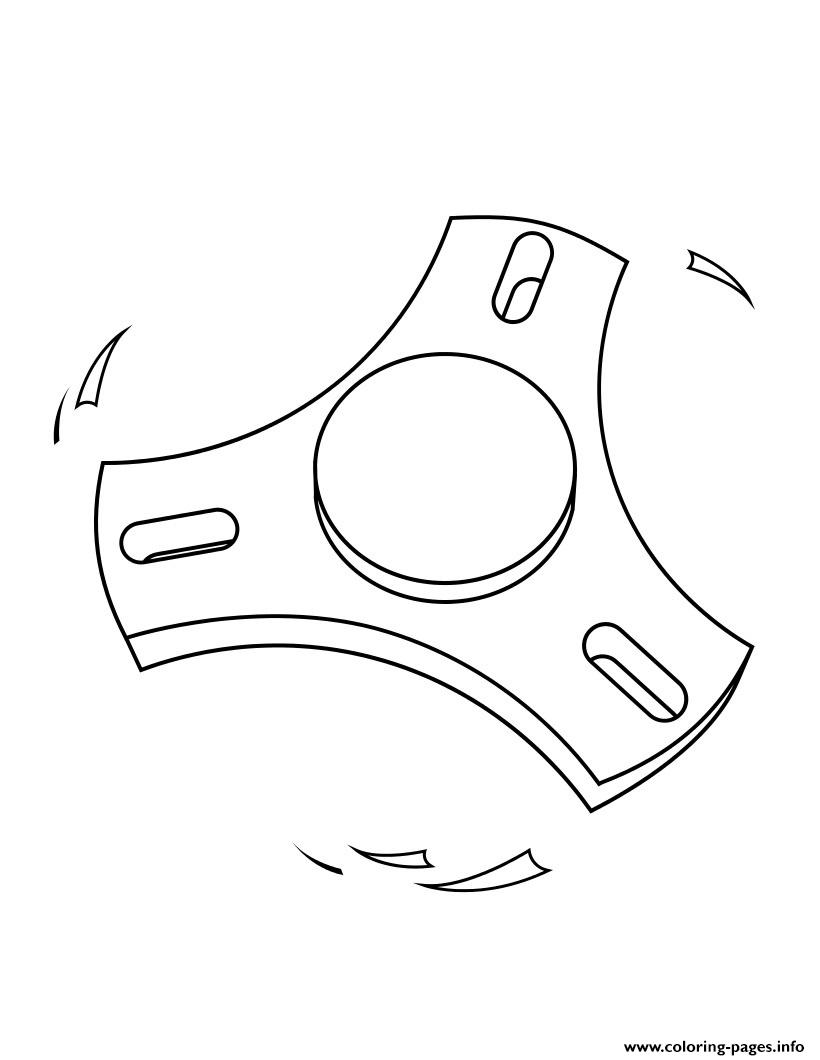 Fidget Spinner 1 Modern coloring pages