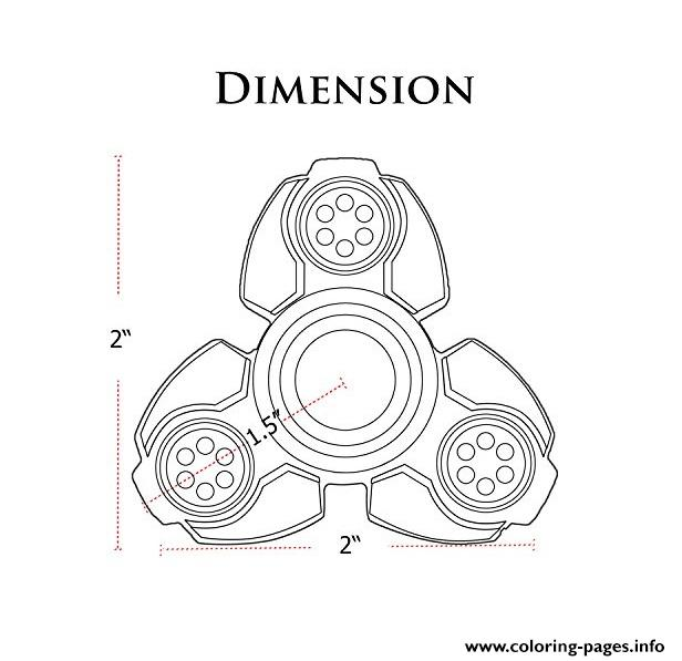photo regarding Printable Spinner named Fidget Spinner Size Dimension Coloring Web pages Printable