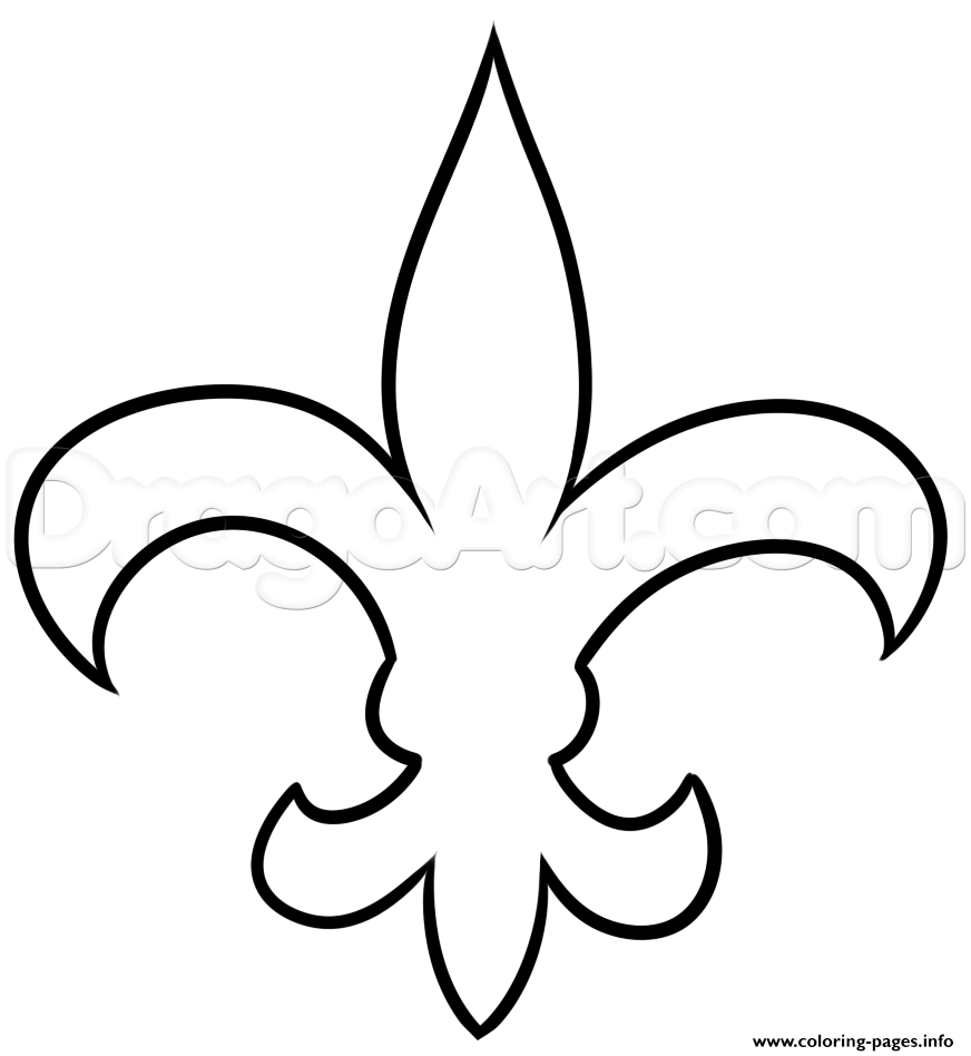 new orleans saints coloring pages for adults | Fleur De Lis Nouvelle Orlean Coloring Pages Printable