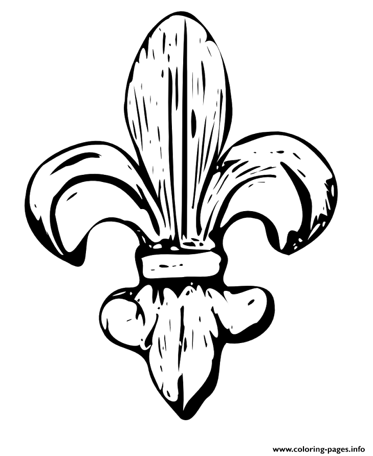 fleur de lys coloring pages - photo#23