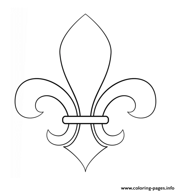 fleur de lis coloring pages - photo#19