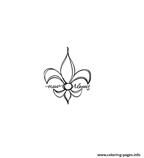 Fleur De Lis New Orleans coloring pages